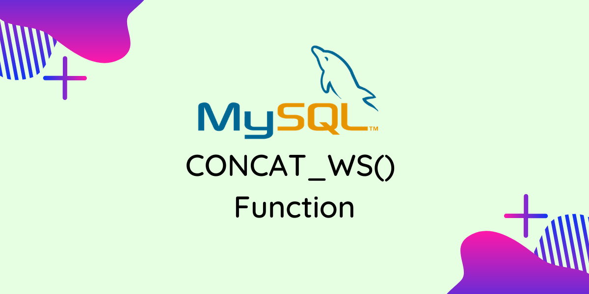 CONCAT WS() Function