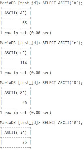 Ascii Simple Example