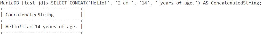 Concat Basic Example