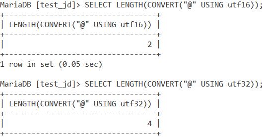 MySQL Length Character Set 2