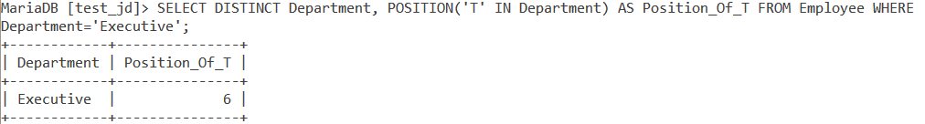 Position Example With Table
