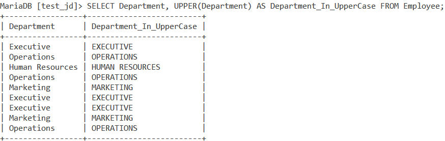 Upper Ucase Table Data1
