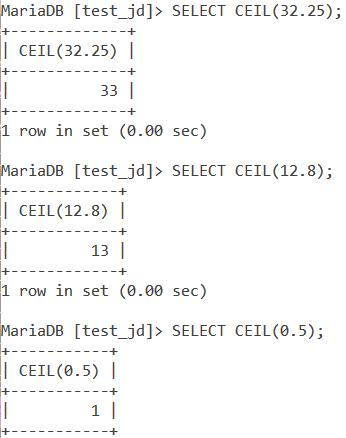 Ceil Basic Examples