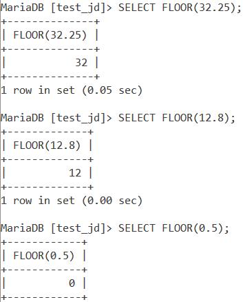 MySQL Floor Basic Examples