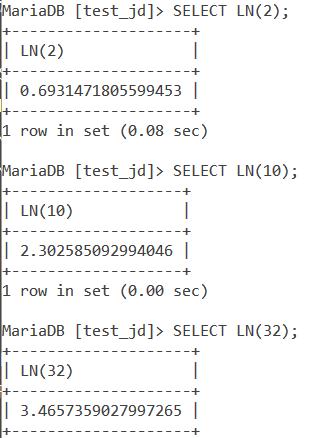 Ln Basic Example