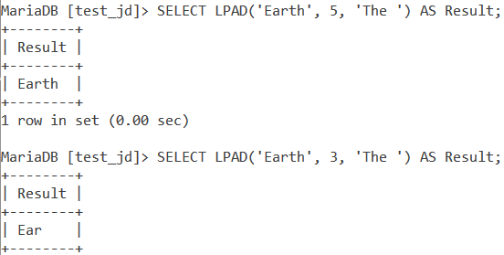 MySQL Lpad Length Too Small
