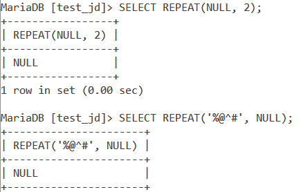 Repeat Null Examples