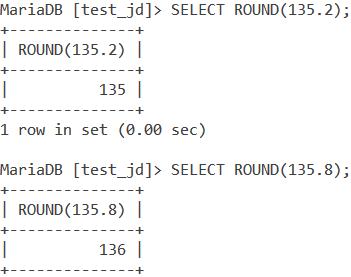 MySQL Round Basic Examples