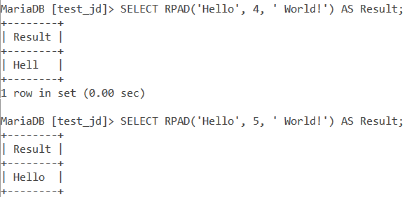 Rpad Length Too Small