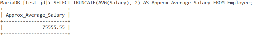 MySQL Truncate Table Example