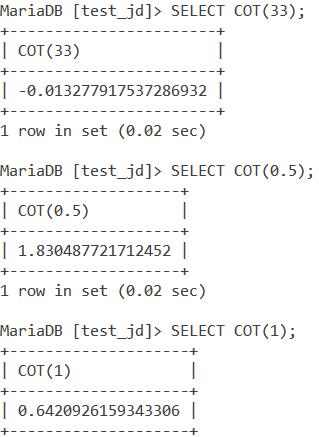 MySQL COT Basic Example