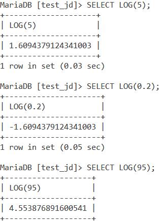 MySQL LOG Basic Example