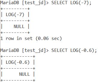 MySQL LOG Negative Example