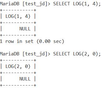 Log Null Result