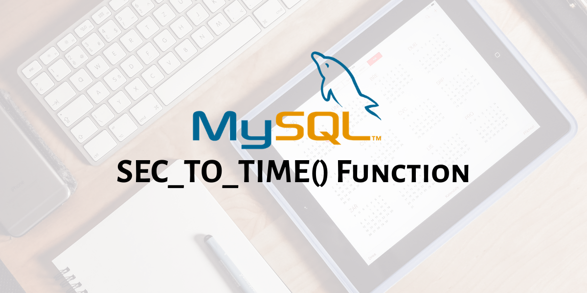 SEC TO TIME Function