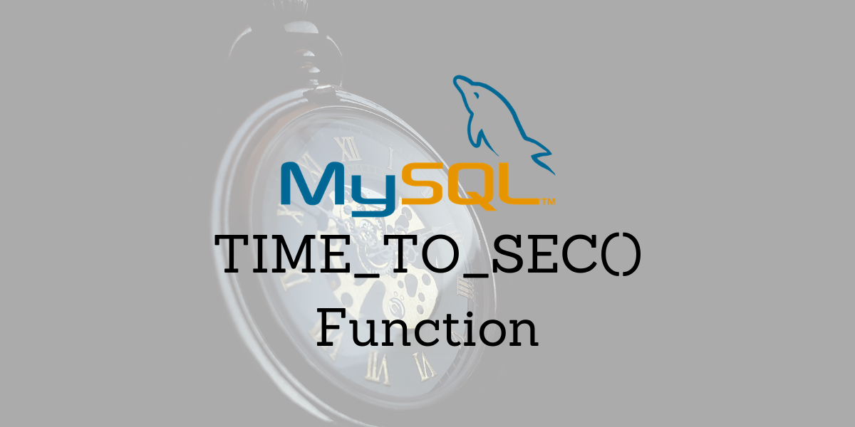 TIME TO SEC Function