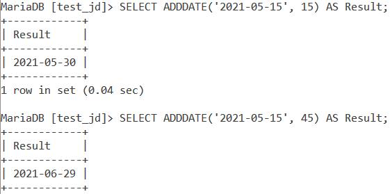 Adddate Syntax1