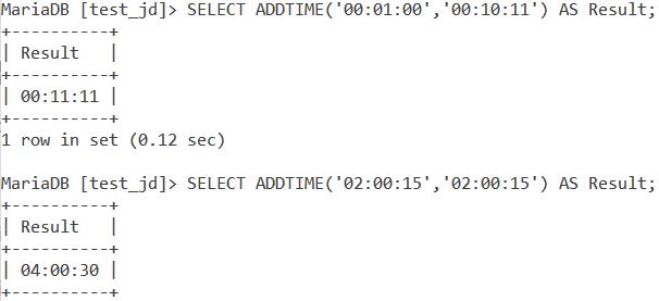 Addtime Basic Example