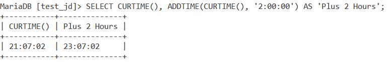 Addtime Curtime 1