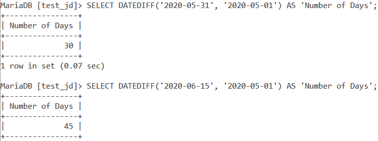 Datediff Basic Example