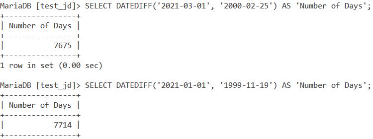 MySQL Datediff Large Values
