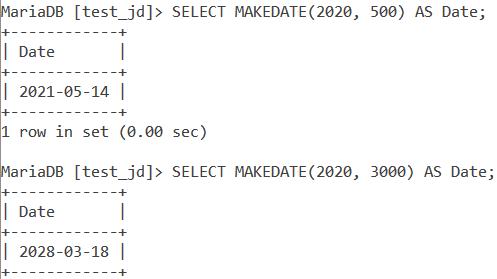Makedate Large Date Value