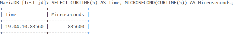 Microsecond Curtime