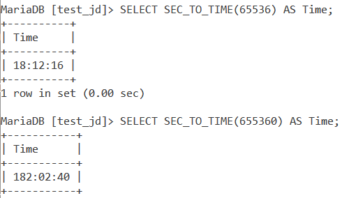 Sec To Time Large Values