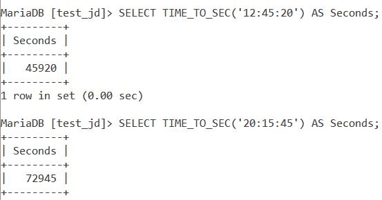 MySQL TIME_TO_SEC Large Values