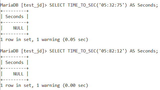 MySQL TIME_TO_SEC Wrong Values