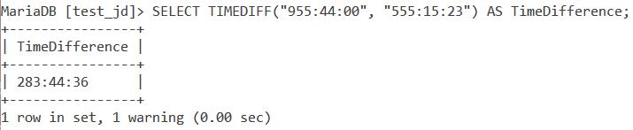 Timediff Limitation 1