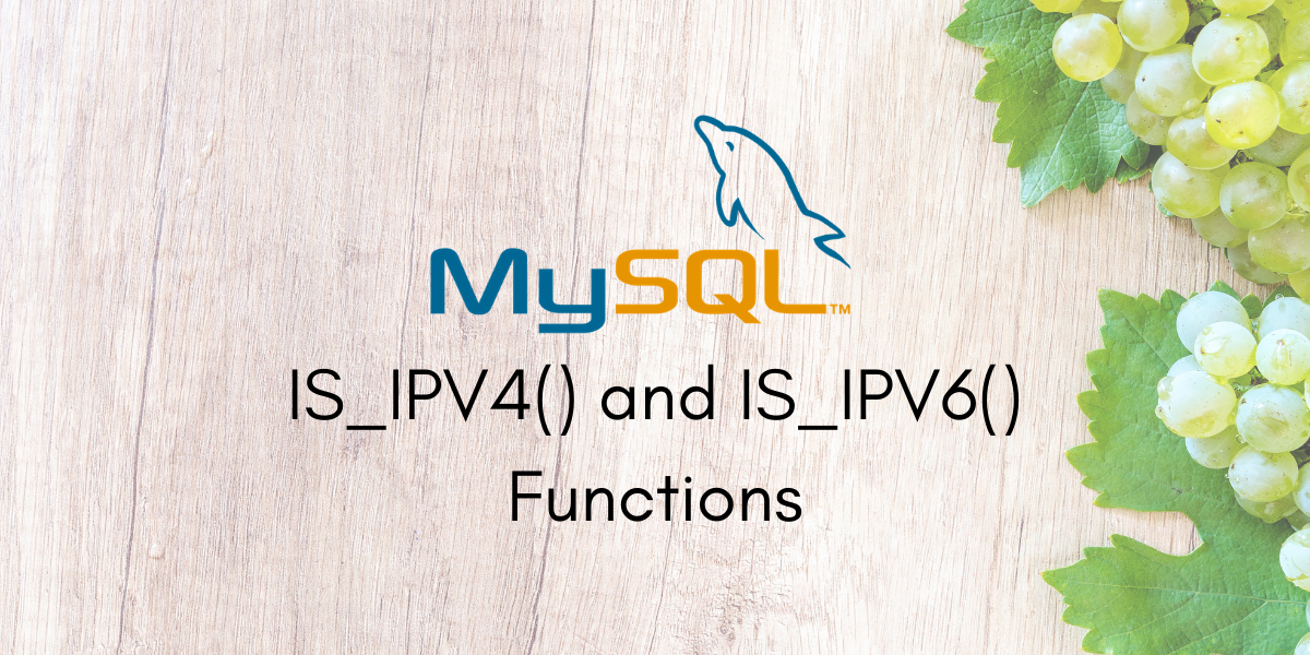IS IPV4 And IS IPV6 Functions