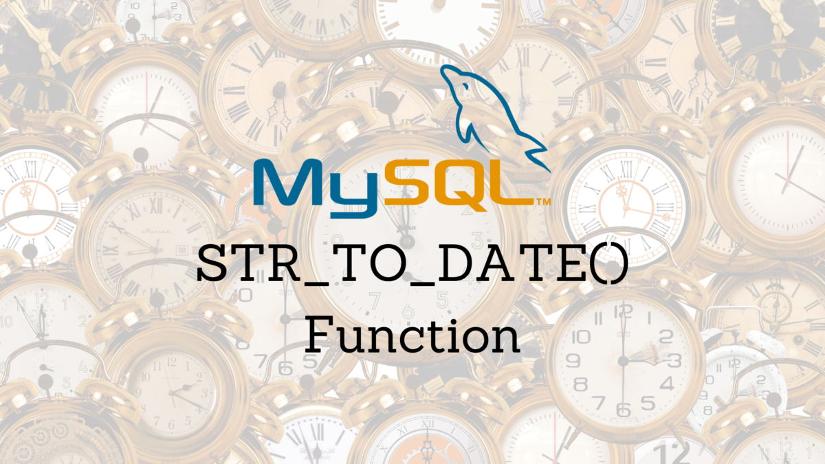 STR TO DATE Function