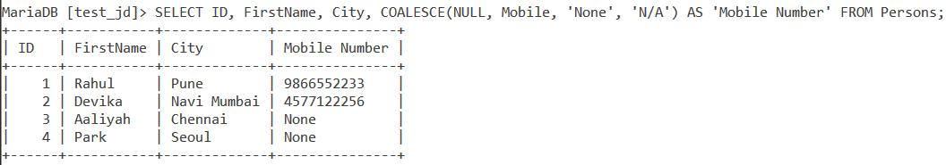 Coalesce Handling Null2