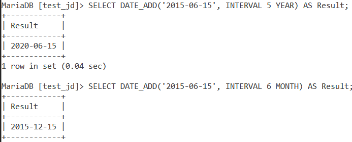 MySQL Date Add Basic Example