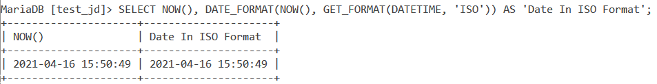Get Format Datetime Example 1