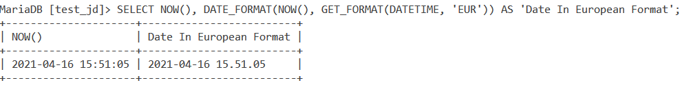 Get Format Datetime Example 2