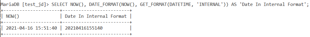 Get Format Datetime Example 3