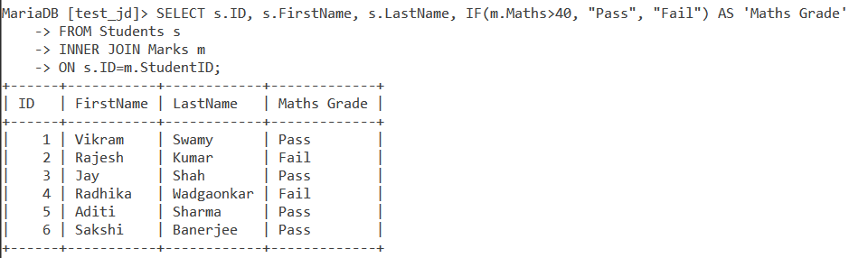 If Table Example 2
