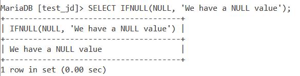 MySQL Ifnull Basic Example 2