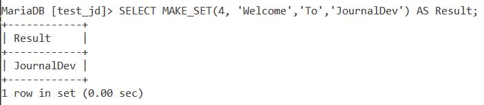 Make Set Basic Example 4