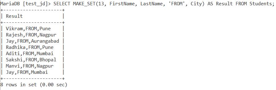 Make Set Table Example 3