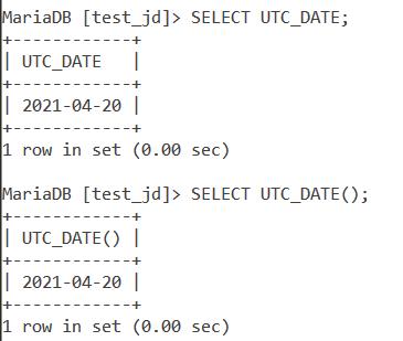 Utc Date Basic Example